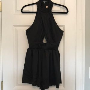 Black high neck and backless Romper!